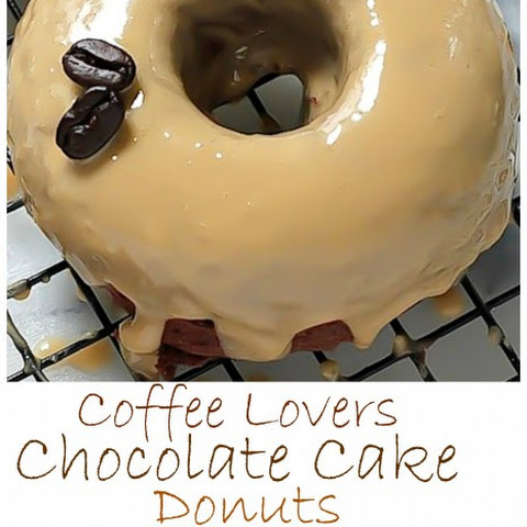 Coffee Lovers Chocolate Cake Donuts