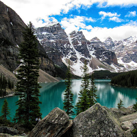 Moraine Lake by Joe Chowaniec - Landscapes Mountains & Hills ( national park, mountains, nature, lake, landscapes, moraine lake, banff )