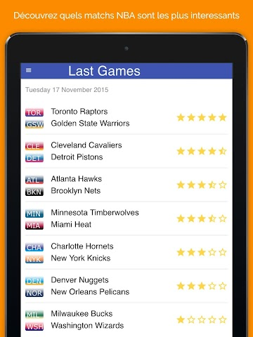 android Basket Ratings Screenshot 4