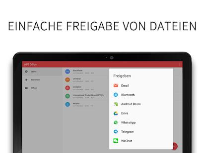 WPS Office + PDF – Miniaturansicht des Screenshots