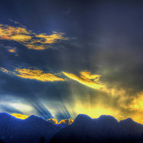 SUNSET IN GILGIT by Muhammad Amin Zia - Landscapes Cloud Formations (  )