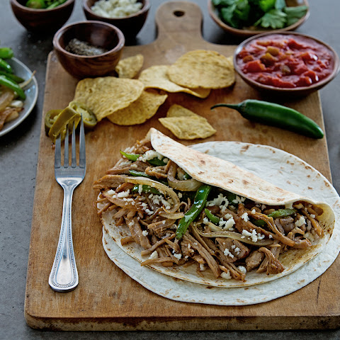 Ginger Pulled Pork Fajitas