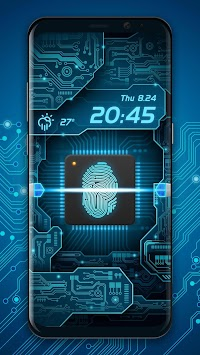 Fingerprint Scanner To Unlock Phone Prank APK screenshot thumbnail 1