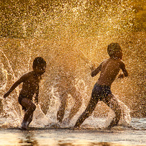 by Jeerasak Chaisongmuang - Babies & Children Children Candids ( kids playing in summer )
