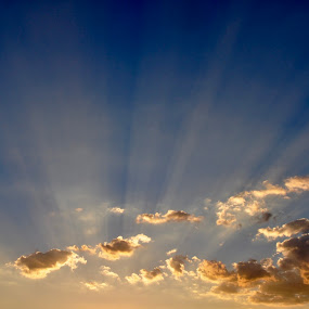 Rays by Savannah Eubanks - Landscapes Cloud Formations ( sky, sunrays, clouds, sun )