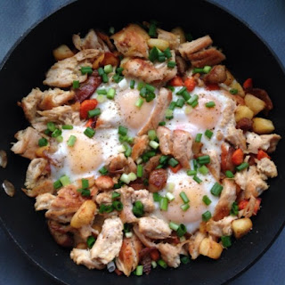 Turkey Parsnip and Carrot Hash with Bacon
