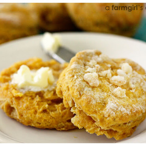 Pumpkin Biscuits with Candied Ginger