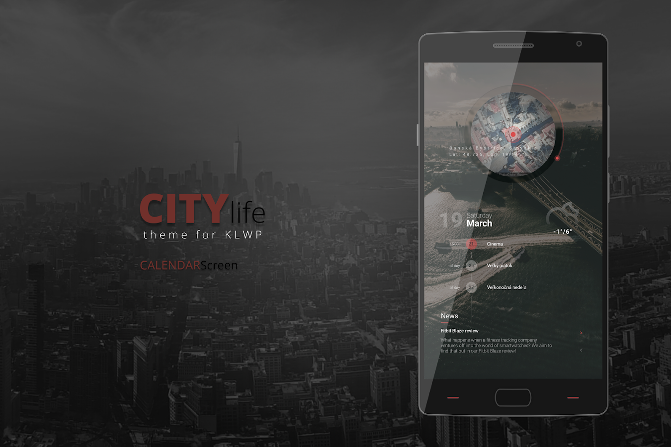 City Life Theme for KLWP Screenshot 2