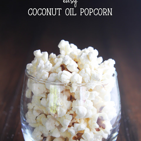 Easy Coconut Oil Popcorn