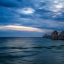 Naples Pier by Kenneth Anderson - Landscapes Waterscapes ( clouds, water, sky, ocean )