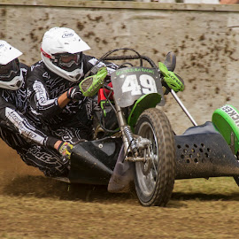 1000cc grasstrack side car  by John Richards - Sports & Fitness Motorsports ( grasstrack, sidecar, racing, motor cycle )
