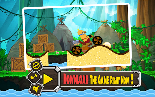 Hill Climb Minion Bike - screenshot