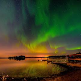 The Aurora Borealis by Joseph Law - Landscapes Starscapes