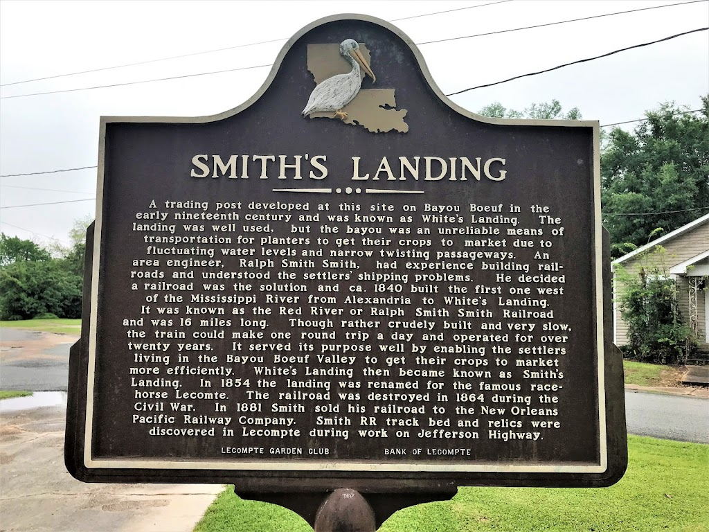 A trading post developed at this site on Bayou Boeuf in the early nineteenth century was known as White's Landing. The landing was well used, but the bayou was an unreliable means of transportation ...