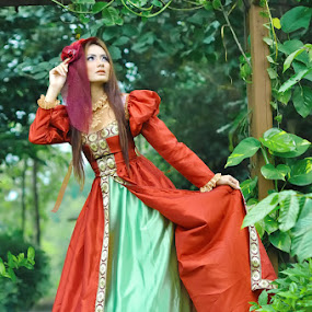 untitled by Max Maxm - People Portraits of Women ( fashion, model, red, green, forest, people )