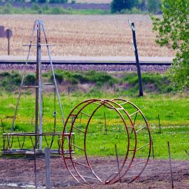 horse play ground by Jon Radtke - City,  Street & Park  City Parks ( horse play ground )