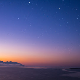by Liz Goodenough - Landscapes Sunsets & Sunrises ( water, mountains, color, stars, lake, #sunrise )