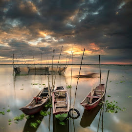 Docked by James Enriquez - Landscapes Travel ( angono landscapes digital-lightph )