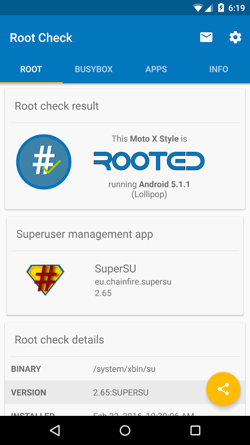 Root Check Screenshot 0