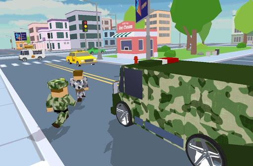 Blocky Army City Rush Racer - screenshot