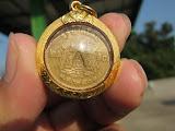 ที่2 เหรียญสลึงหลวงพ่อพรหม ปี14โค๊ตระฆังพร้อมเลี่ยมทองคำแท้