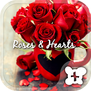 Cute wallpaper-Roses & Hearts