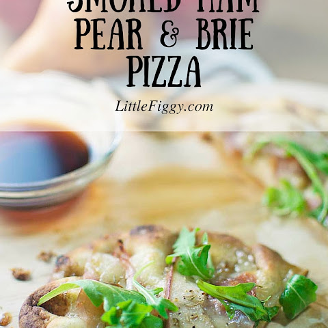 Smoked Ham Pear and Brie Pizza