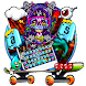 Supreme Skull Graffiti Skateboard Keyboard Theme