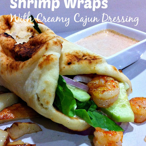 Shrimp Flatbread Wrap with Creamy Cajun Dressing