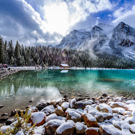 Lake Louise by Joseph Law - Landscapes Waterscapes