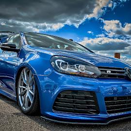 Golf VR6 by Dragan Rakocevic - Transportation Automobiles ( blue, cars, wheels, sport, vr6, golf, tuning, volkswagen )