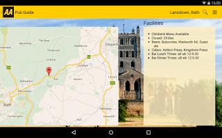 Screenshot of AA Pub Guide