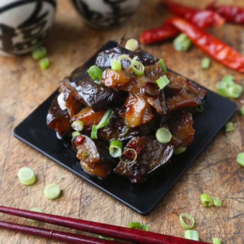 Sauteed Eggplant with Spicy Miso Sauce