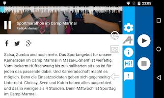 Screenshot of Radio Andernach