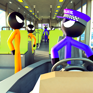 Prison Stickman Transport Police Van For PC / Windows 7/8/10 / Mac – Free Download