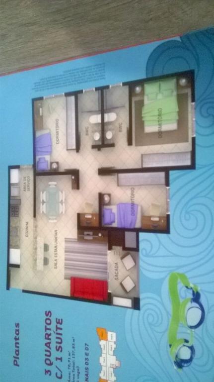 Apartamento residencial à venda, Fortaleza, Blumenau.