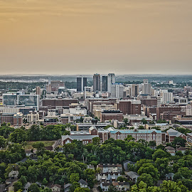 Birmingham by Scott Cobb - City,  Street & Park  Skylines ( hdr, vulcan, sunset, birminghan, cityscape, alabama, smog, city )