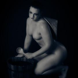 Artistic Nude  by Kathryn Potempski - Nudes & Boudoir Artistic Nude ( concept, model, nude, female, black and white, boudoir, artistic nude, women )