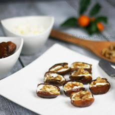 Cheese and Walnut Stuffed Dates