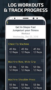 Gym Workout Tracker & Trainer Screenshot