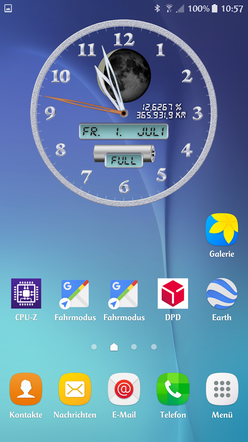 Analog Clock: ChronoLuna Screenshot 2