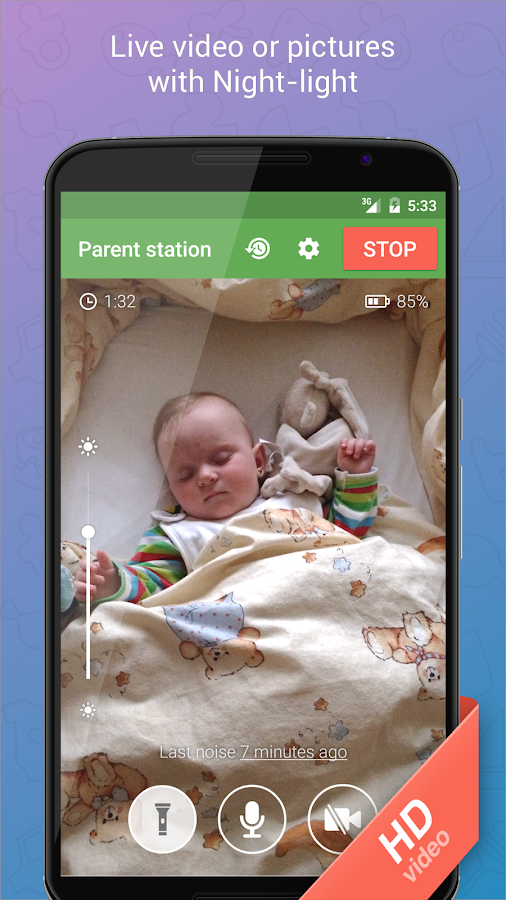 Baby Monitor 3G Screenshot 1