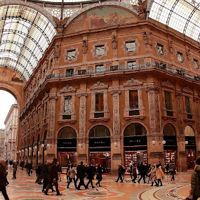 Galleria Vittorio Emanuele II by Sridhar Balasubramanian - Buildings & Architecture Other Interior ( top images, prada, milan, louis vuitton, galleria vittorio emanuele ii, duomo, italy,  )
