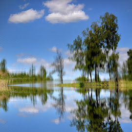 Another picture... by Zenonas Meškauskas - Digital Art Places ( picture, water, reflection, lake, illusion )