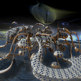 Edge Of Tomorrow by Rick Eskridge - Illustration Sci Fi & Fantasy ( fantasy, jwildfire, mb3d, fractal, twisted brush )