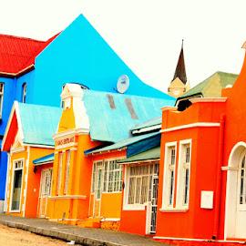 German Houses by Fanie van Vuuren - Novices Only Objects & Still Life ( desert, luderitz, diamonds, namibia,  )