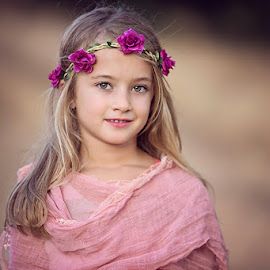 Flower Girl by Karen Winter - Babies & Children Child Portraits ( karen winter, karen winter photography, child portraits, portraits,  )