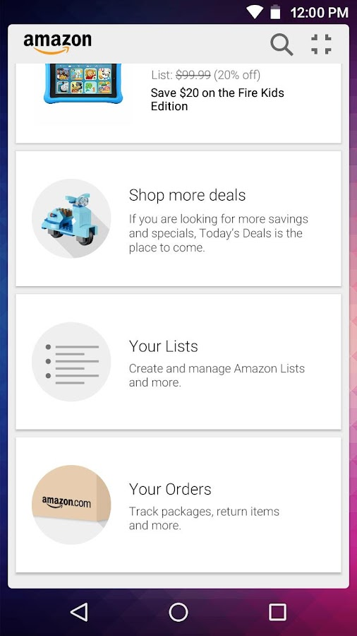 Amazon Widget Screenshot 2