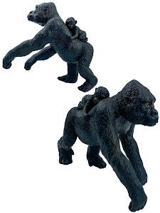 """Игрушка-фигурка серии """"Город Игр"""", самка гориллы L2, с детенышем"""