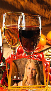 Wine Glass Photo Frames Screenshot